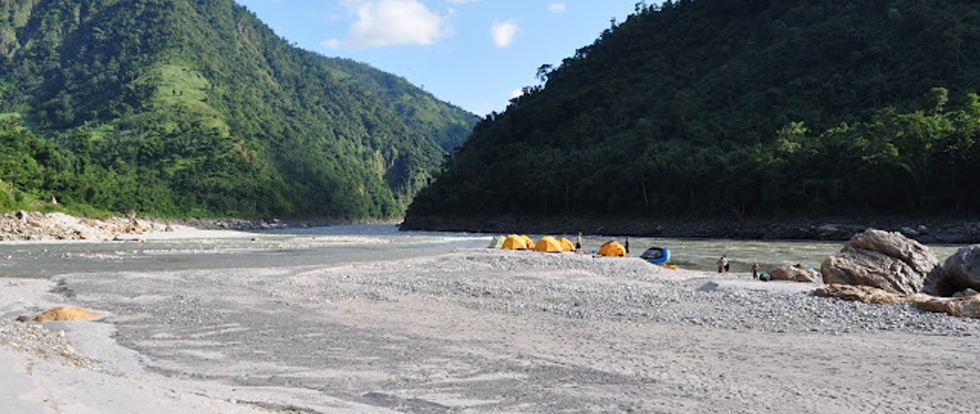 RISHIKESH CAMP IN GANGA